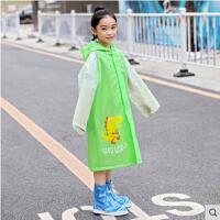 雨衣幼儿园男童女童宝宝雨衣小学生大帽檐小孩防水加大厚雨披