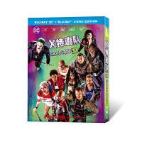 正版3D漫威动作片电影蓝光碟BD:X特遣队-自杀小队1080p铁盒DC