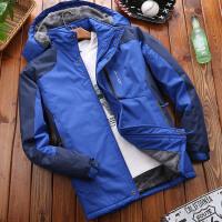 棉衣男冬装外套宽松加绒加厚棉袄防风防水户外新款 L 适合60公斤左右