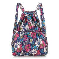 尼龙折叠双肩包大容量葫芦丝包休闲背包抽绳包简约便携旅行收纳包