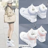 雪地靴女时尚马丁靴女鞋靴子女短靴冬季加绒学生棉鞋