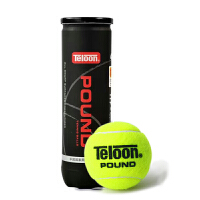 天龙(Teloon)网球 高弹耐磨训练球比赛用球 冲击波-POUND 塑听4球装
