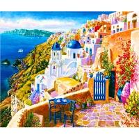 唯美风景 圣托里尼希腊爱琴海1000片木质拼图 玩具