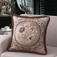 新款欧式沙发抱枕靠垫长方形靠枕抱枕套含芯床头靠背垫大号腰枕