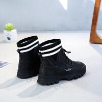 女童马丁靴冬季新款儿童加绒棉鞋雪地短靴子女大童鞋秋冬款