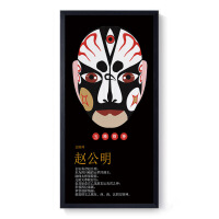 五路财神火锅店装饰画饭店面馆餐馆农家乐创意脸谱挂画