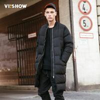 新款VIISHOW冬季羽绒服男中长款保暖男士鸭绒潮牌外套