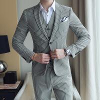 英伦青年西服套装男士套韩版西装修身伴郎团新郎帅气结婚礼服