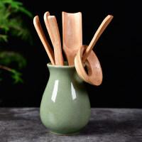 功夫茶具配件整套陶瓷茶道六君子套装木实木鸡翅木竹红檀送父亲送朋友
