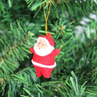 圣诞节用品装饰圣诞挂件 圣诞树挂件 圣诞老人小挂件3g XP-15圣诞小老人挂件3个