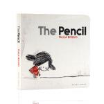 The Pencil铅笔 英文原版绘本 儿童启蒙纸板图画故事书 Paula Bossio 亲子互动 无字书 激发想象