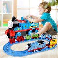 儿童声光电动小火车轨道套装男孩小汽车模型车宝宝玩具1-3-6岁