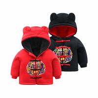 婴儿衣服外套装加厚宝宝秋冬装6新生儿0岁1过年喜庆红色新年3个月