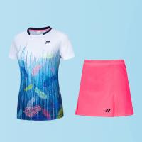 羽毛球服套装男女款YY新品网球比赛团队服速干透气修身运动短袖