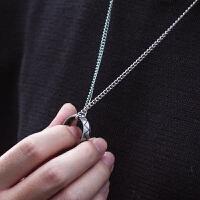 菱面戒指男士韩版个性潮人单身钛钢学生刻字戒子霸气食指戒指
