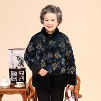 中老年女装冬装棉衣加厚金丝绒妈妈老人棉袄奶奶外套60-70岁