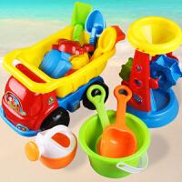【支持礼品卡】儿童节沙滩戏水玩具车套装大号宝宝桶铲子玩沙挖沙工具决明子洗澡j4s