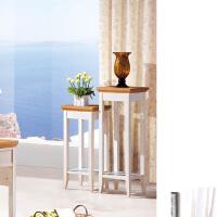 尚满 地中海系列花架 书房阳台家具 实木框架 低花架、中花架、高花架、水曲柳实木框架花架