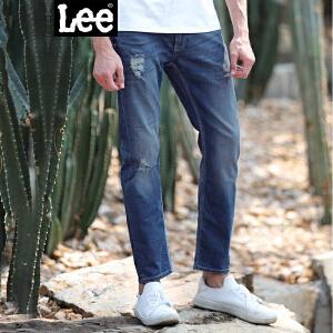 Lee男装 精玉透凉商场同款2017新品水洗牛仔裤 L15722P664MB