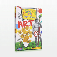 【11.11狂欢钜惠】美国进口 艺术互动指导游戏书 Pocket Activity Fun and Games:Art 关于艺术创造的那些事儿 便携口袋本合集【平装】