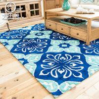 高端欧式地中海风格客厅大地毯 茶几沙发地垫 简约现代卧室床边毯