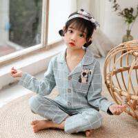 儿童睡衣女春秋冬季纯棉长袖女宝宝女童小女休闲家居服套装