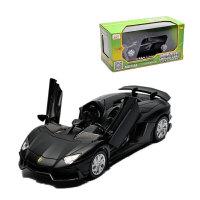 1:32保时捷918跑车声光合金车模型玩具儿童回力玩具汽小车男孩 黑色 AJ
