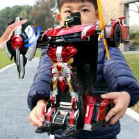 儿童男孩玩具车遥控变形车感应变形汽车金刚机器人充电动