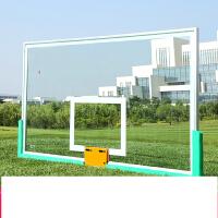 篮球板钢化玻璃室外铝合金边户外标准篮球架板标准篮板