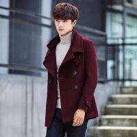 2017新款冬季毛呢大衣男士妮子外套中长款韩版修身风衣青年加厚短款风衣