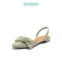 茵曼女鞋春夏凉鞋蝴蝶结玛丽珍单鞋尖头浅口气质仙女凉鞋