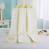 活力熊仔 婴儿浴巾纯棉面料环保舒适吸水强劲耐洗耐磨试用婴幼儿冲凉洗澡巾