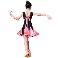 儿童拉丁舞裙女童演出服夏季考级表演服比赛练功服拉丁舞服装