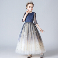 女童公主裙蓬蓬纱花童秋冬洋气主持人儿童钢琴表演服