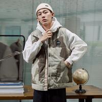 【直降价149元】唐狮冬季新款迷彩马甲男青少年韩版潮牌背心外套立领贴标