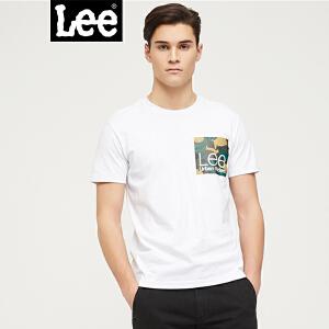 Lee男装 2018春夏新品都市骑士白色短袖T恤L302082LQK14