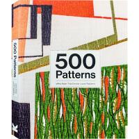 【英文版】500 Patterns 世界500种经典纺织品纹案 服装布料图案纹样设计参考图集书籍