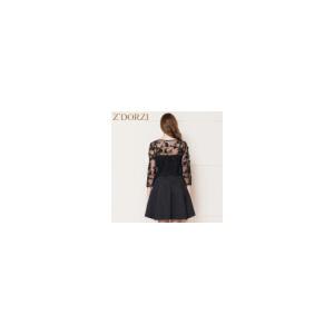 zdorzi卓多姿甜美女装蕾丝A字吊带裙两件套连衣裙子632369
