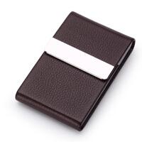 名片夹男式商务金属名片盒大容量女式时尚名片夹创意定制刻字男士