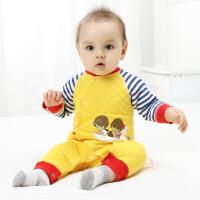 班杰威尔 婴儿连体衣秋冬装加厚保暖宝宝哈衣爬爬服新生儿衣服