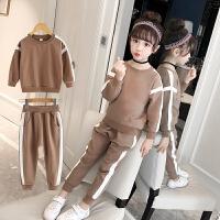 2018新款儿童春秋装小女孩洋气卫衣运动服两件童装女童运动套装
