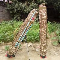 鱼具全套背包 鱼包渔具包1.25米三层钓鱼竿包杆包防水硬壳钓鱼用品双肩背包HW