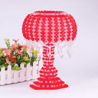 DIY手工串珠家居蘑菇台灯材料摆件亚克力纸巾盒抽纸盒