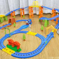 儿童火车轨道玩具多层电动男孩3-6岁大号小火车套装轨道车