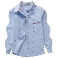 童装春秋款中大童加绒男童衬衫长袖儿童格子衬衣春装
