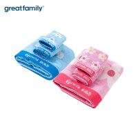 歌瑞家竹纤维提花宝宝毛巾礼盒套装 儿童婴儿洗脸洗澡毛巾 乐友