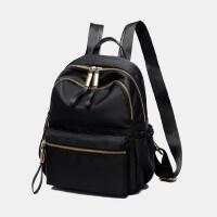 双肩包女韩版新款时尚百搭妈咪书包包潮帆布旅行背包nb 黑色