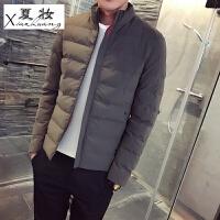 夏妆冬季棉衣外套男韩版潮流学生羽绒男式帅气上衣服修身短款棉袄