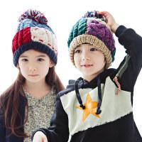 KK树纯手工儿童帽子秋冬男童女童帽子保暖宝宝针织毛线帽冬潮e4r