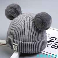秋冬宝宝毛线帽子 儿童加绒女童0婴儿1男童2女孩3韩版潮针织帽4岁 3个月-4岁 35-52CM
